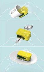 鸭嘴型百洁布-工业创意设计