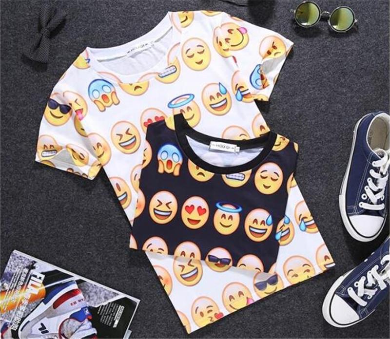 夏季潮流创意3D搞怪图案情侣T恤2