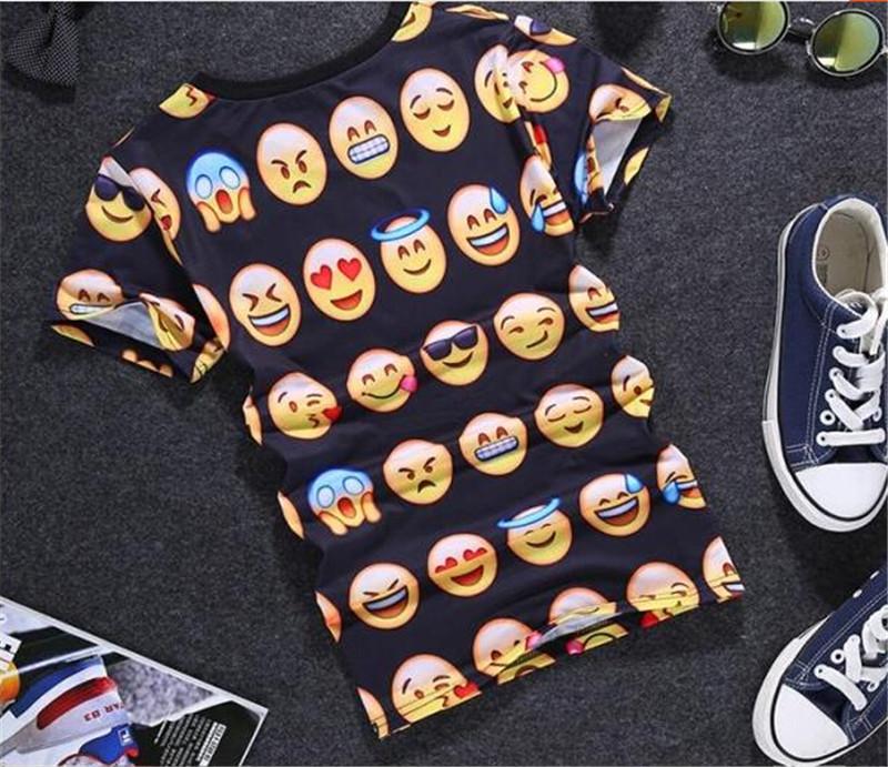 夏季潮流创意3D搞怪图案情侣T恤4