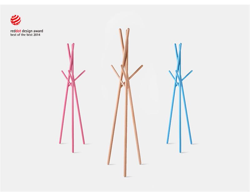 『创意设计』创意实木质衣帽架红点设计奖5