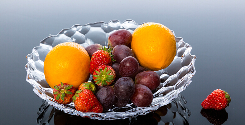 创意玻璃水晶艺术水果拼盘