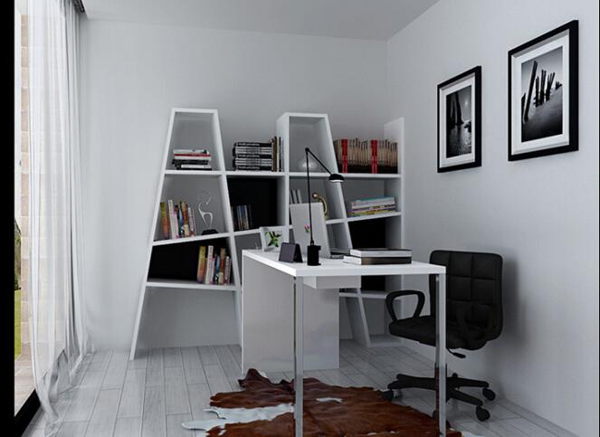 木结构时尚创意隔板书架4