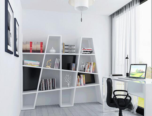 木结构时尚创意隔板书架3