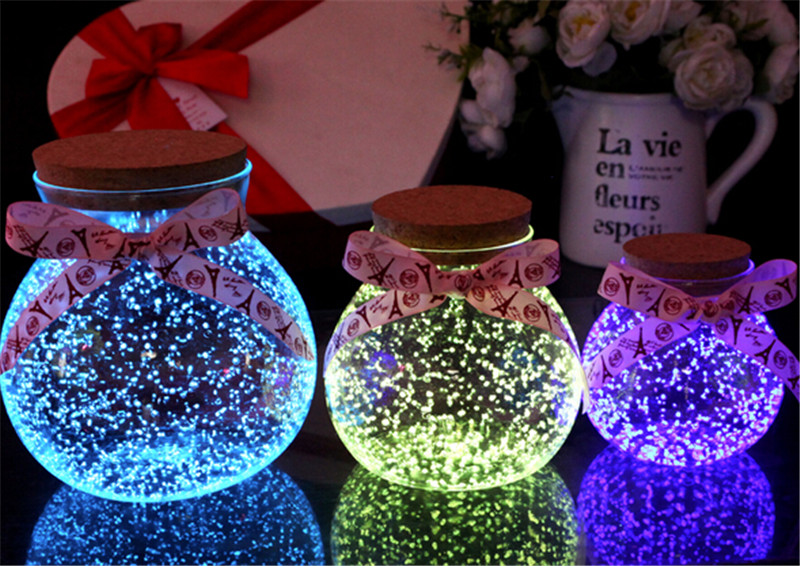 520创意发光玻璃瓶情人节礼物1