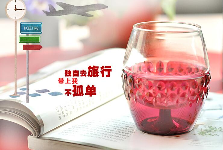 情侣双层玻璃红酒杯