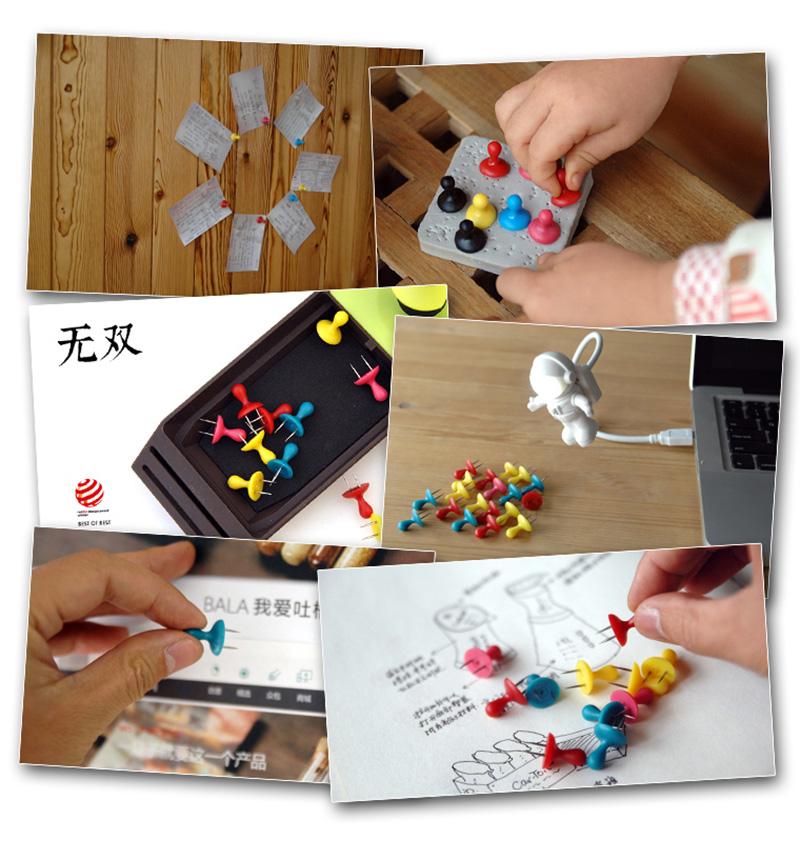 德国红点设计大奖双头创意图钉文具用品12