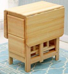 实木多功能现代化折叠餐桌