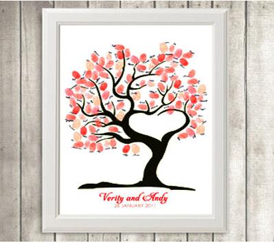 结婚指纹签到树