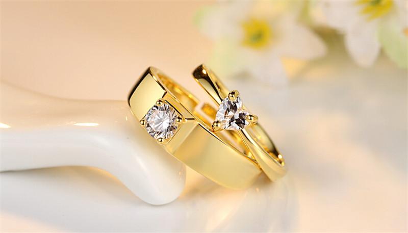 仿真黄金钻石创意情侣结婚戒指2
