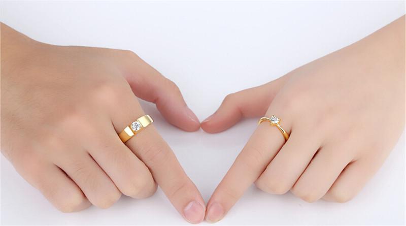 仿真黄金钻石创意情侣结婚戒指4