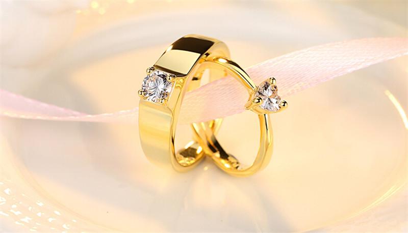 仿真黄金钻石创意情侣结婚戒指3