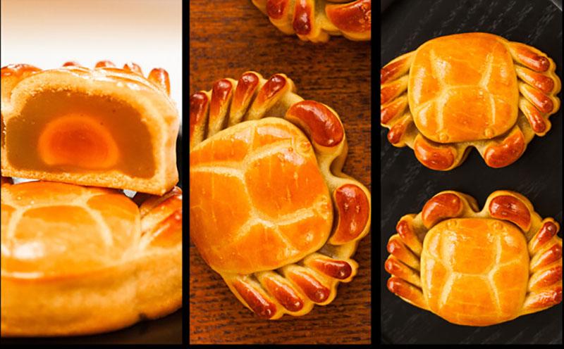 红豆沙莲蓉蛋黄大闸蟹月饼2