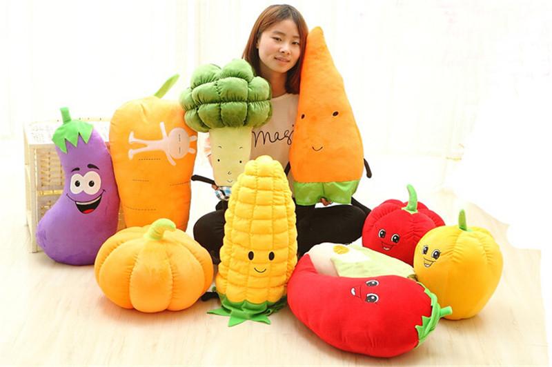 蔬菜抱枕毛绒玩具1
