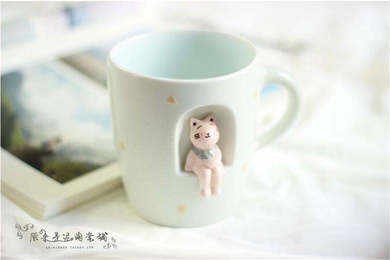 创意手绘3D立体萌物陶瓷马克杯2