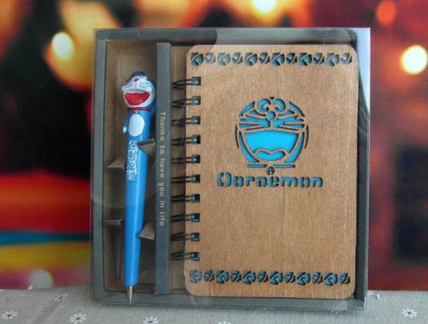 木質筆記本工藝品擺件3