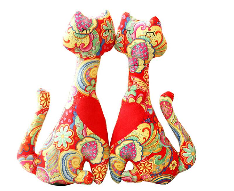 猫咪麂皮绒抱枕套装3