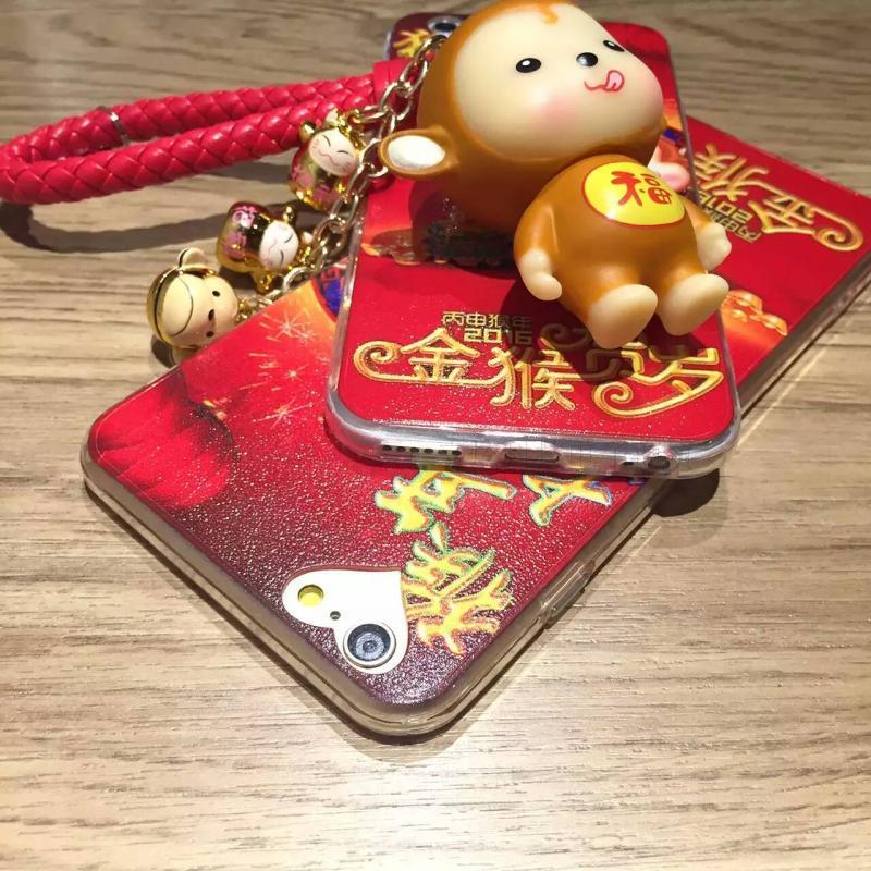 手机壳创意招财金猴挂件3