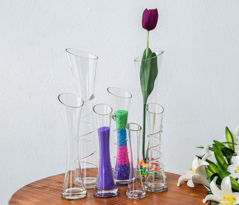 简约时尚创意斜口玻璃花瓶4