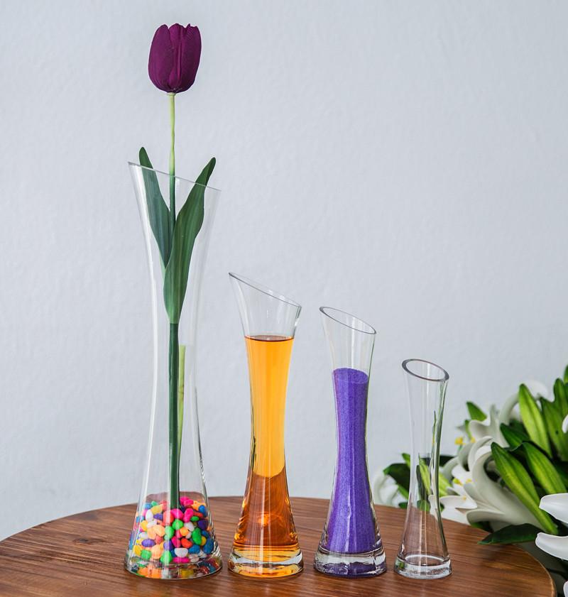 简约时尚创意斜口玻璃花瓶3