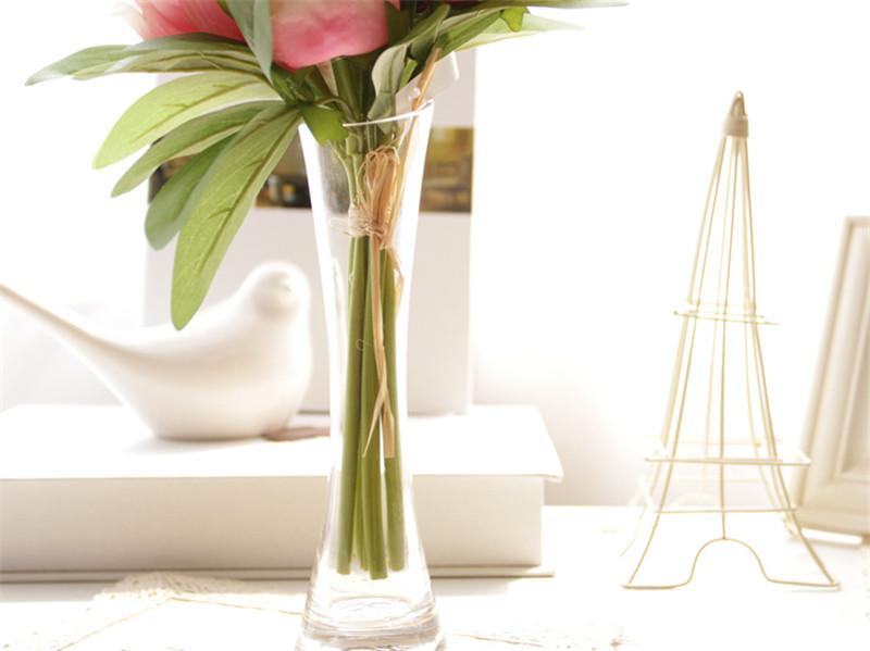 简约时尚创意斜口玻璃花瓶1