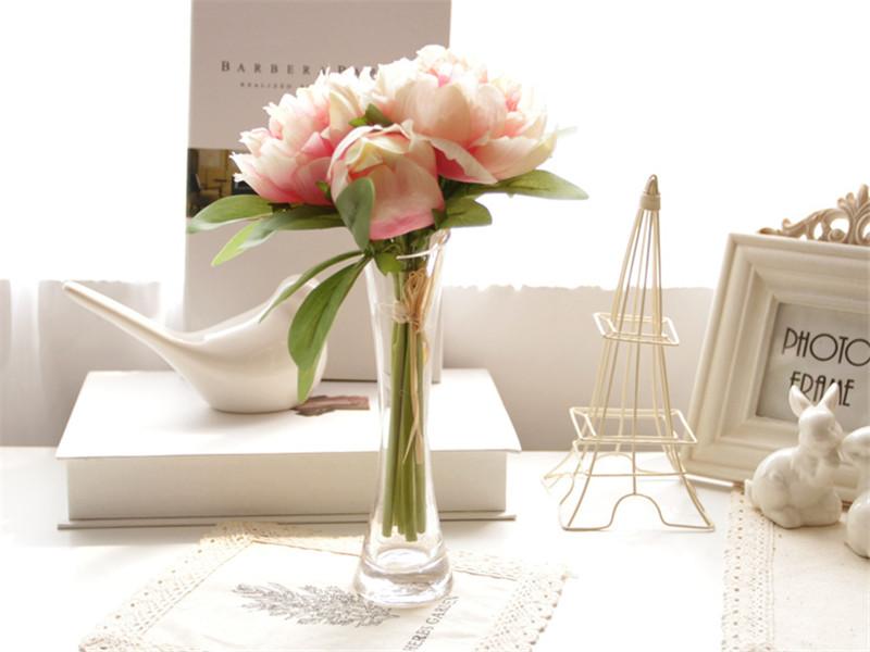 简约时尚创意斜口玻璃花瓶2