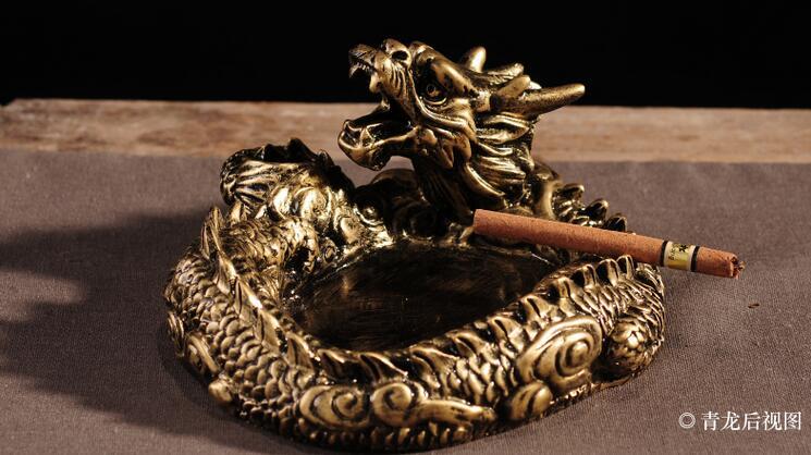 创意时尚卧龙烟灰缸送老公生日礼物3
