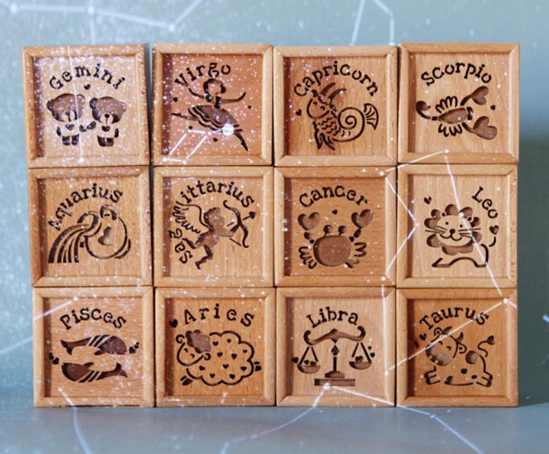 十二星座木质音乐盒3