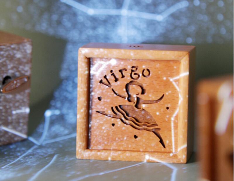 十二星座木质音乐盒1