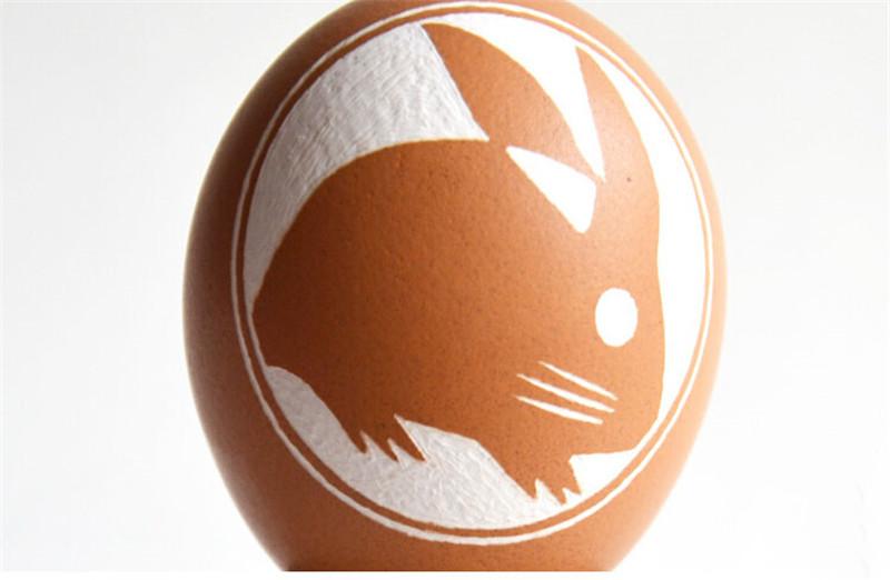 蛋雕手工生肖兔子1