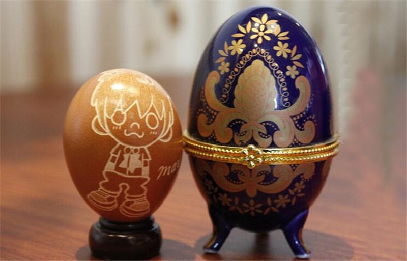 蛋雕手工生肖兔子3