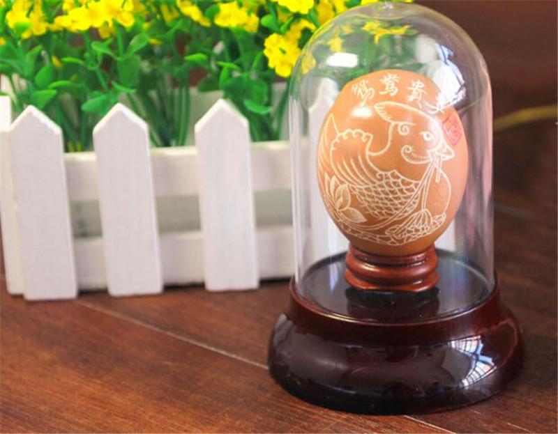蛋雕手工生肖兔子2
