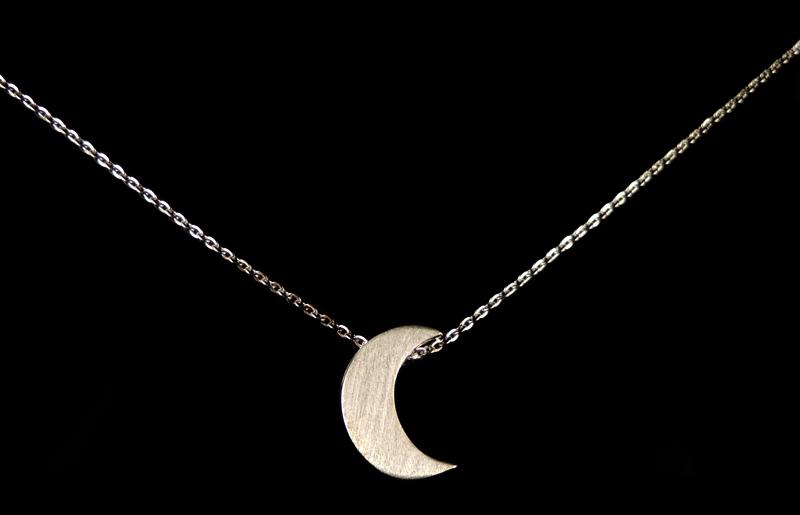 拉丝月亮项链 1