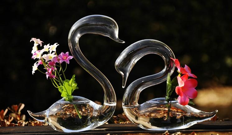 天鹅造型创意玻璃瓶 1