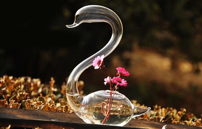 天鹅造型创意玻璃瓶 4