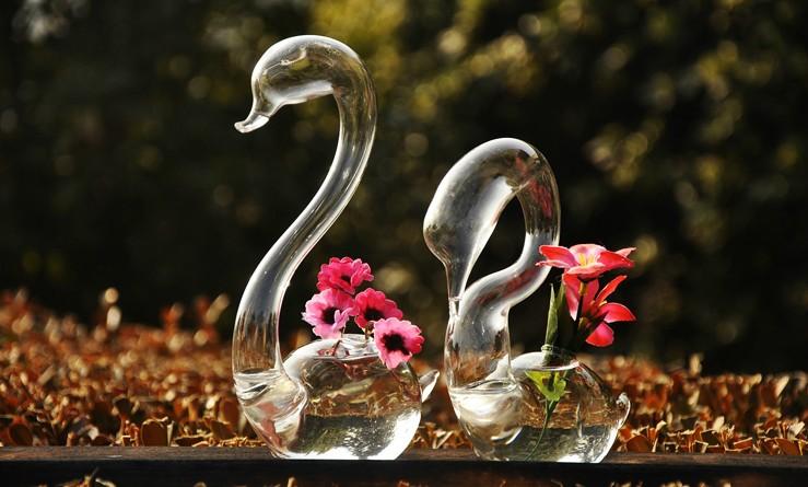 天鹅造型创意玻璃瓶 2