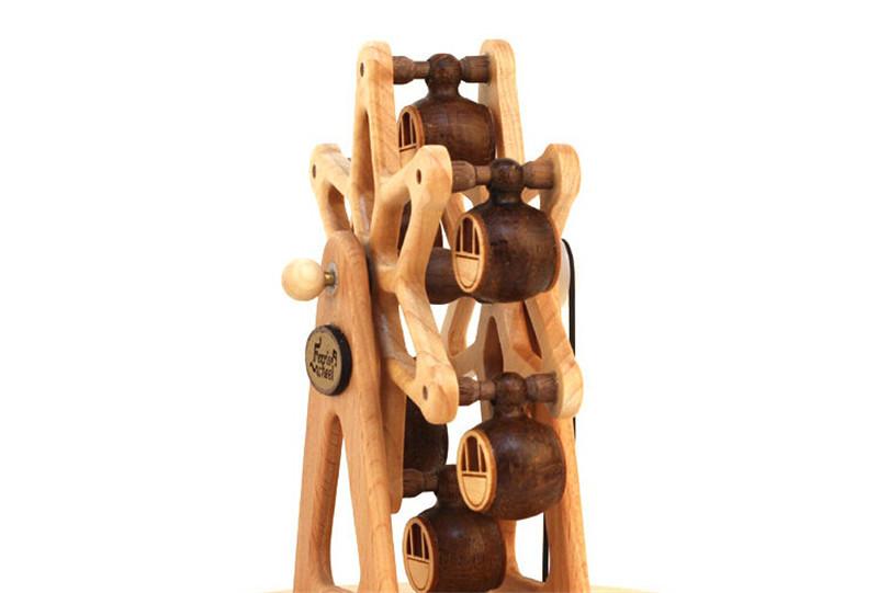 摩天轮木质旋转八音盒2