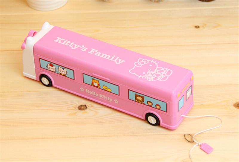 韩版火车头巴士文具盒3