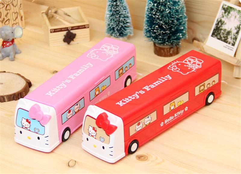 韩版火车头巴士文具盒4