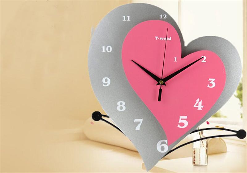 静音时尚创意心形挂钟3