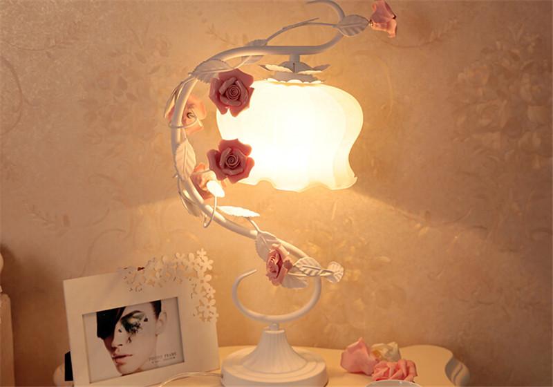 浪漫玫瑰花床头灯 1