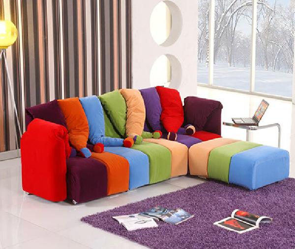七彩小丑造型沙发1
