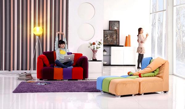 七彩小丑造型沙发4