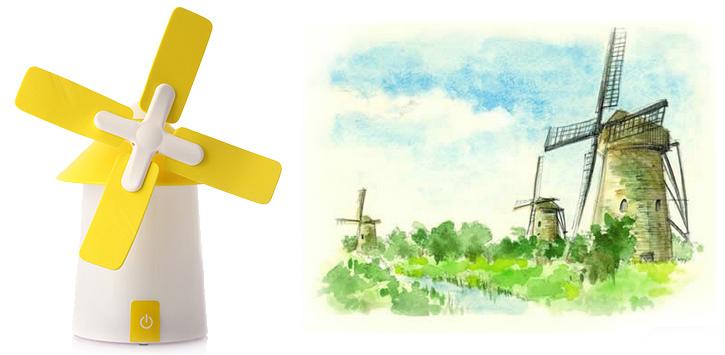 荷兰风车风扇小夜灯 3
