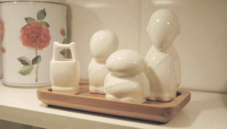 三个和尚创意陶瓷调味罐 2