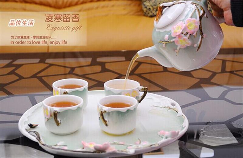 珐琅彩瓷创意茶具中秋节礼物2