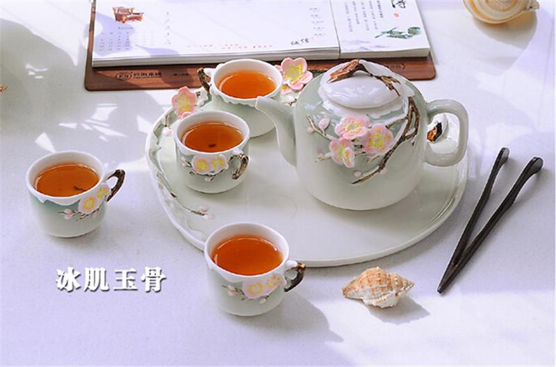 珐琅彩瓷创意茶具中秋节礼物3