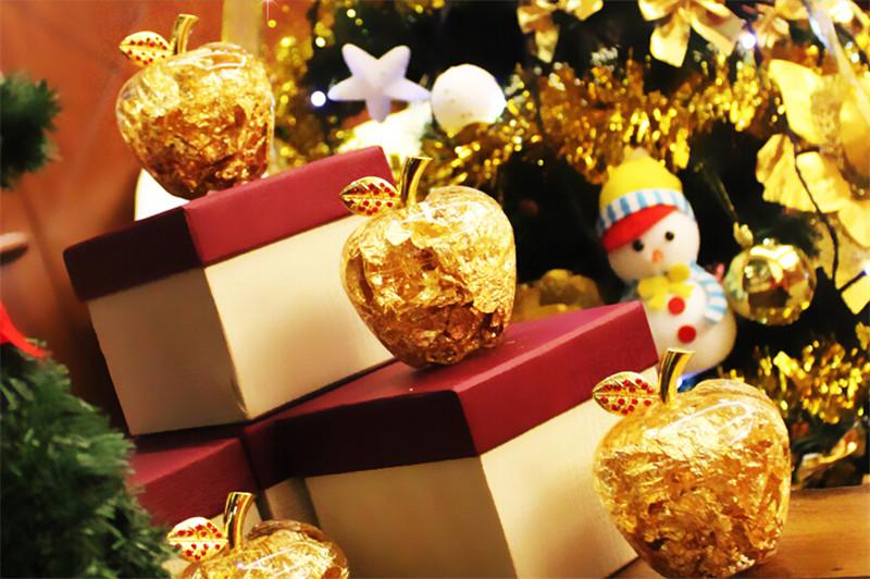 创意圣诞节礼物送女友女生金箔苹果2