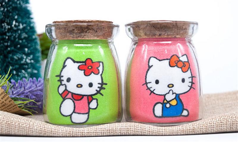 凯蒂猫沙画瓶创意新年春节礼品2