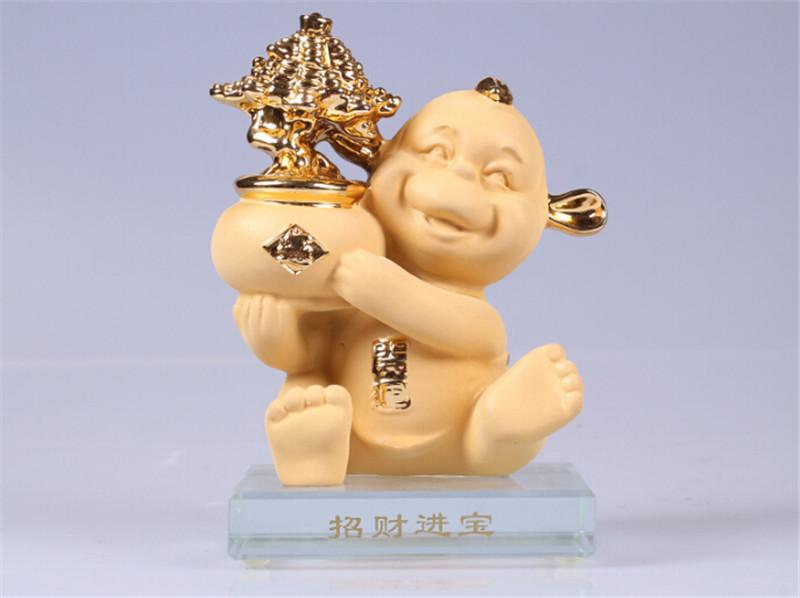 吉祥坊招财进宝猴年摆件春节礼品