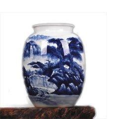 景德镇手绘陶瓷摆件落地装饰品